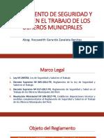 ANARESST - Reglamento de SST Del Os Obreros Municipales Del Perú