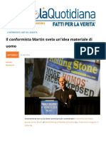 Il Conformista Martin Svela Unidea Materiale Di Uomo
