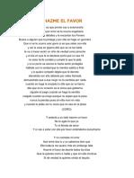 Letra Hazme El Favor
