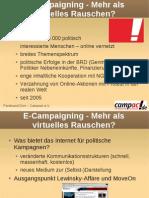 E-Campaigning - Mehr als virtuelles Rauschen?