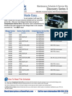 Land Rover Disco II maintenance schedule