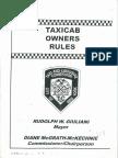 Κανονισμός Λειτουργίας Των Ταξί Της Νέας Υόρκης