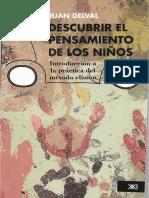Tapas Juan Delval - Descubrir El Pensamiento de Los Niños_ Introducción a La Práctica Del Método Clínico (2012, Siglo XXI)