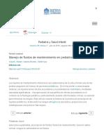 Manejo de Fluidos de Mantenimiento en Pediatría - ScienceDirect