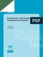 CEPAL (2002). Experiencias y Metodología de La Investigación Participativa