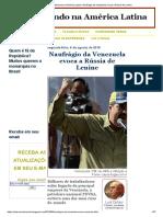 Acontecendo Na América Latina_ Naufrágio Da Venezuela Evoca a Rússia de Lenine