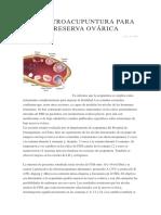 La Electroacupuntura Para La Baja Reserva ovarica