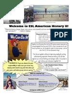 esl american history ii syllabus f18