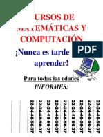 Cursos de Matemáticas y Computación