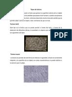 Tipos de textura.docx