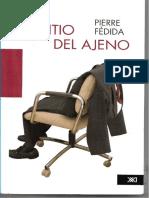El Sitio Del Ajeno Pierre Fédida