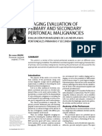 IMAGING EVALUATION of Primary and Secondarty Peritoneal Malignancy