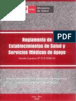 Decreto Supremo N° 013-2006-SA