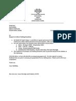 sample Donations Letter