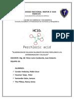 Informe Estandarizacion Acido Perclorico