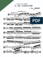 Solo de Concours, Op.10 (Rabaud, Henri)