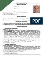 Curriculum Vitae Miguel Pino 05-2018