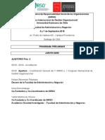 Programa Preliminar V SIRSO y I Congreso Internacional de Gestión Organizacional  2018