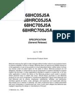 Datasheet 68HC05