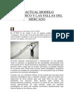 El Actual Modelo Económico y Las Fallas Del Mercado