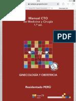 Manual CTO Perú Ginecología y Obstetricia 1°ed 2018