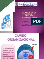 Cambios en la cultura organizacional