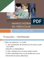 3.- Manejo Nutrimental Del Preescolar (1)