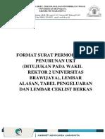 2018 Format Surat Dan Lembar Ceklist Cc