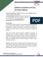 Folder Curso Licitações Públicas e Contratos