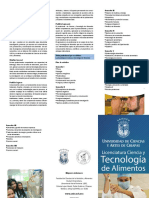 Licenciatura en Ciencia y Tecnologia de Alimentos Tuxtla 2017