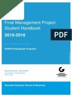 FMP Handbook 2015-2016
