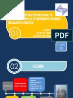 Simulacion de un proceso industrial de dosificacion y mezcla de ingredientes