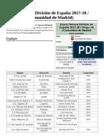 Anexo Tercera División de España 2017-18 Grupo VII (Comunidad de Madrid)