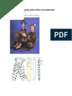 Disfraz de Leopardo Para Niños Con Patrones