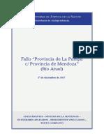 Fallo Provincia de La Pampa c Mendoza