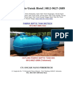 Septic Tank Bio Untuk Hotel | 0812-9627-2689