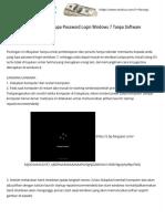 Cara Mengatasi Lupa Password Login Windows 7 Tanpa Software - Trik Dan Cara Mengatasi Masalah Pada Hh Android, Bb, Dan Komputer