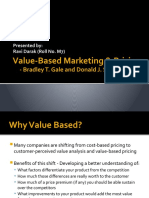 Value-Based Marketing & Pricing