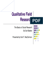 Babbie 10 Field Research