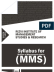 Revised Syllabus for MMS
