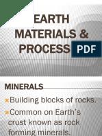 Earth Materials Processes New