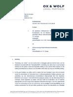 2018 08 23 - KG Land vs Jamaloodin-uitlevering   Pleitnota definitief OX & WOLF