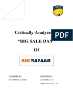 Big Bazaar Analyzing Maha Bachat Sale