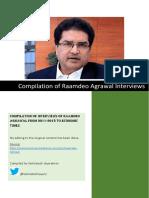 Raamdeo Agrawal Interviews (2013-Jun 2018)