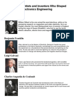 Famous Scientists and Inventors Who Shaped Electronics Engineering