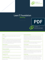 LITA Lean IT Foundation Glossary - EnGLISH