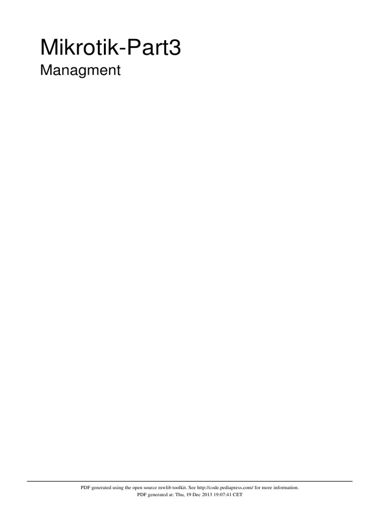 Mikrotik-Part3 - Managment manual IP | I Pv6 | Ip Address