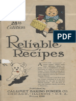 Calumet Reliable Recipes 28th ed.