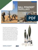 BALL POWDER Propellants 60-81-120mm