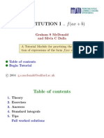 Integration by Substitution 1